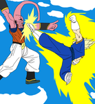 Vegetto vs Super Buu by Kaiju-Borru-Zetto