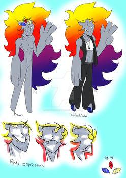 Resh refrence sheet (OUTDATED) by MonotoneDreamer