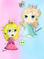 Mario princesses by KawaiiiJackiiie