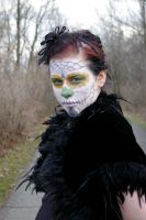 Sonny Sugar Skull Makeup by burntfaestock