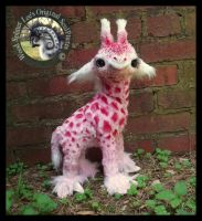 SOLD-  Handmade Poseable Baby Strawberry Giraffe! by Wood-Splitter-Lee