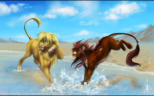 A Quick Cool Off by FireofAnubis