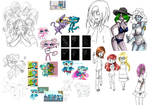 Unfinisched art and sketch dump by Freaky--Panda