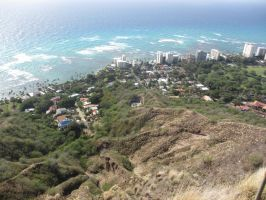 From the Top of Diamond Head Crater by abbeydeath
