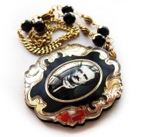 Edgar Allen Poe Necklace by asunder