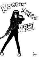 Joey Ramone cartoon by Exidor02