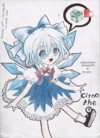 Cirno the 9 - Fanart by karenmizuno