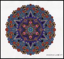 Crazy Ruthie Colors Mandala Jim's Line Art by crazyruthie