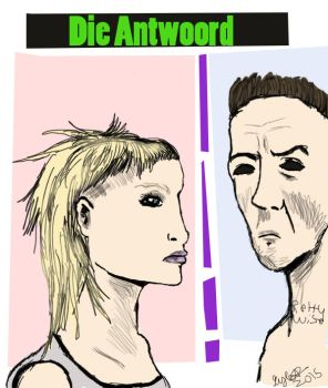 Die Antwoord in a tank girl style attempt by bleachmanx