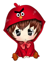 Chibi Red Riding Angry Bird by JVladoka