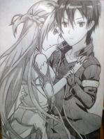 Kirito and Asuna by Dread333