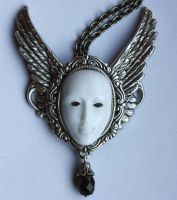 Vincewinged mask pendant by Pinkabsinthe