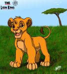 Young simba in the Savannah- by MAKATAKO