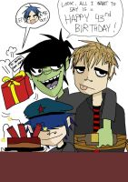 Happy Birthday, Damon Albarn by Shinohida
