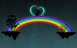 Dance on a rainbow by Denpas