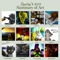 2011 Art Summary by Spottedfire-cat