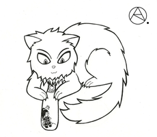 Thorn!Cat Has A New Toy (Requested) by roselovehunt
