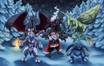 Commission: Santa's Team by ShadeofShinon