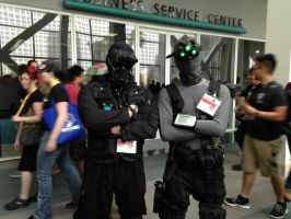 Sam Fisher and Vector from operation Raccoon city by W4RH0US3