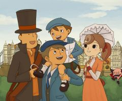 Layton - Travel Buddies by kelvarin