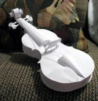 Paper Violin by hungriestcrocodile