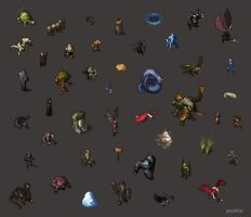 Pox Nora Page of Sprites 2 by pearlzu