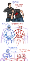 Mark and Tom sketches by SmashGal
