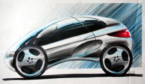 Car Design Concept Sketches 02 by Popgrafix
