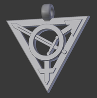 Trans Warrior Pendant (Update) by CaspianSeaMonster