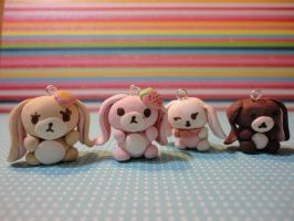 Kawaii Clay Sugar Bunnies by Strawberrypopandart