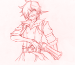 Grand Chase Lupus/Rufus, Whatever~ Sketch by ScarletZeL