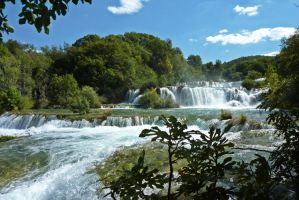 Krka river by Zasora