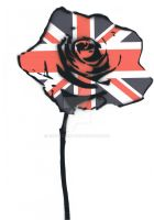 union jack rose by GHOSTZzArt