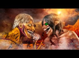 Attack on titan. Eren vs Rainer by TheIdeaFix