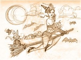 Mimi First at Dr. Sketchy by photon-nmo