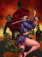 Scarlet vs Zombies by Nomingzombie