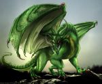 Green dragon by IsisMasshiro