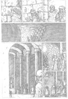 Something Evil page 8 pencils by RudyVasquez