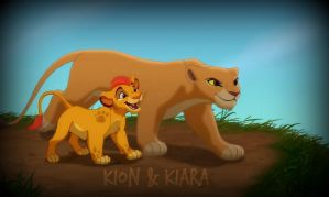 Kion and Kiara by StormChaserLuvr