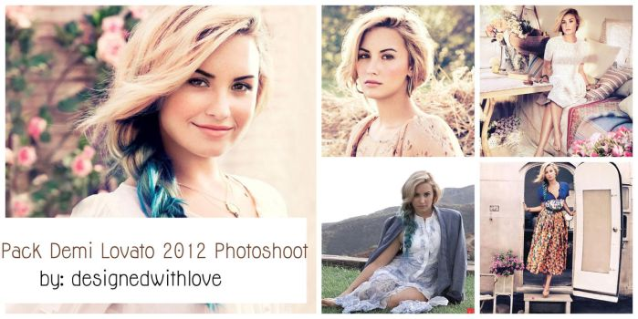 Pack Demi Lovato HD 2012 by designedwithlove