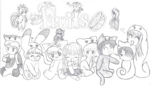 Fruits basket gang by SpicyPoptart