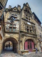 Medieval town - Sarlat 02 by HermitCrabStock