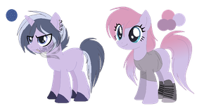 Platinum Heart and Pink Gold -Ref Sheet- by Dem0nicVibes