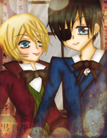 Ciel and Alois by Berrichu