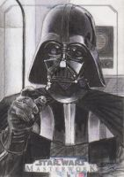Star Wars Masterwork - Darth Vader Sketch Art Card by DenaeFrazierStudios