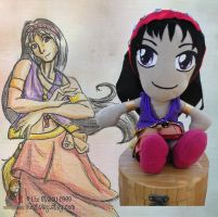 Gypsy Plushie and Artwork by lizstaley