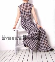 Black White Checked Jumpsuit14 by yystudio