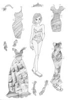 texture paper doll by electricjesuscorpse