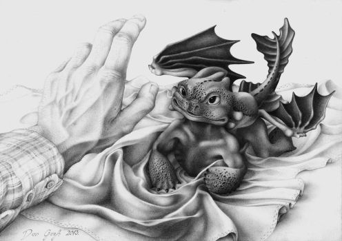How to tame a baby dragon? by DanGref