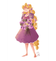 Rapunzel by morgansketch